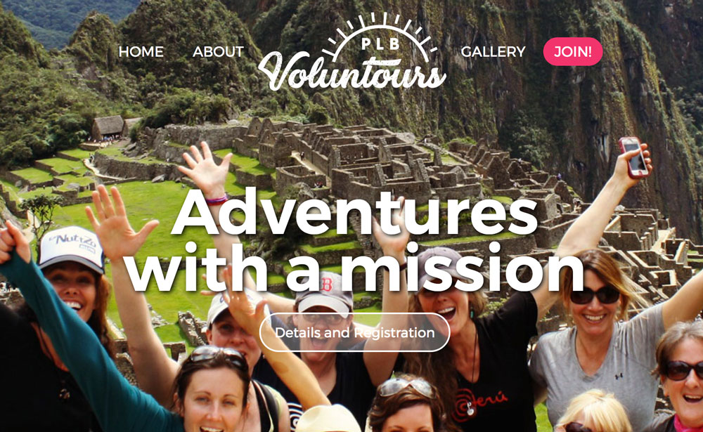 PLB Voluntours website